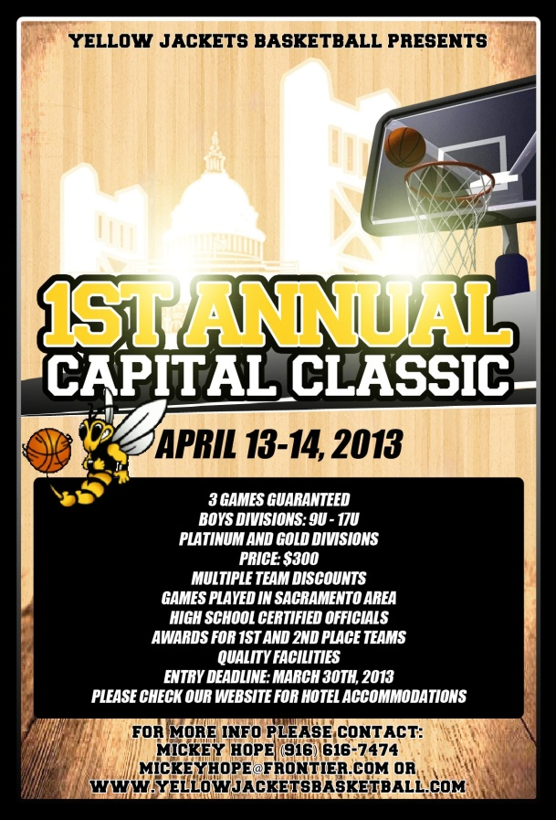 Yellow Jackets - Capital Classic Flyer