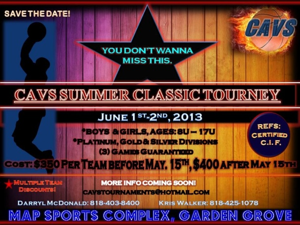 CAVS Summer Classic Flyer