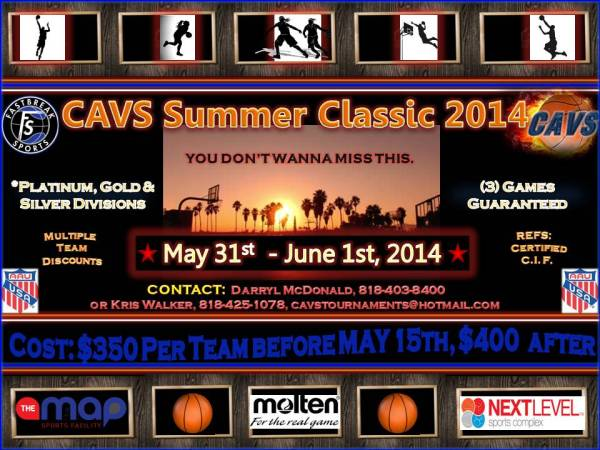 CAVS Summer Classic 2014-UPDATED