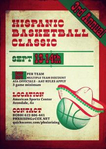 3rd Annual Hispanic Basketball Classic Sept. 13-14 (Phoenix AZ)