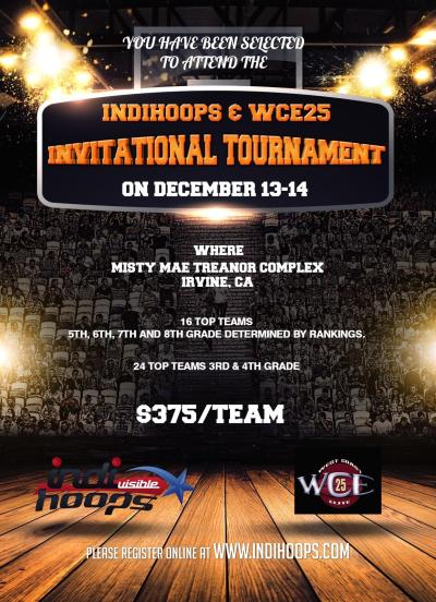 Indihoops and WCE25 Invitational December 13-14, 2014
