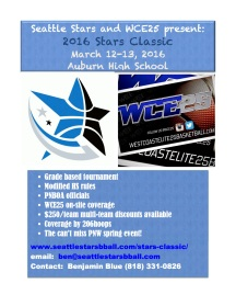 Seattle Stars Classic March 12-13, 2016